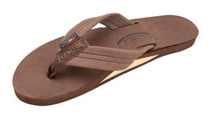 Rainbow Premium Leather Womens Sandal (Expresso)