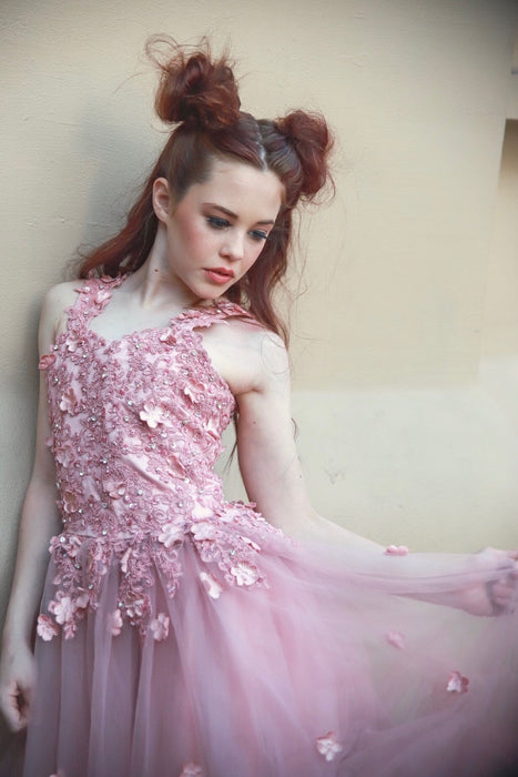 The Adrianna Rose Gold Couture Gown