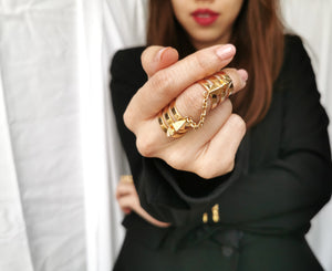 statement rings recycled materials 18k gold