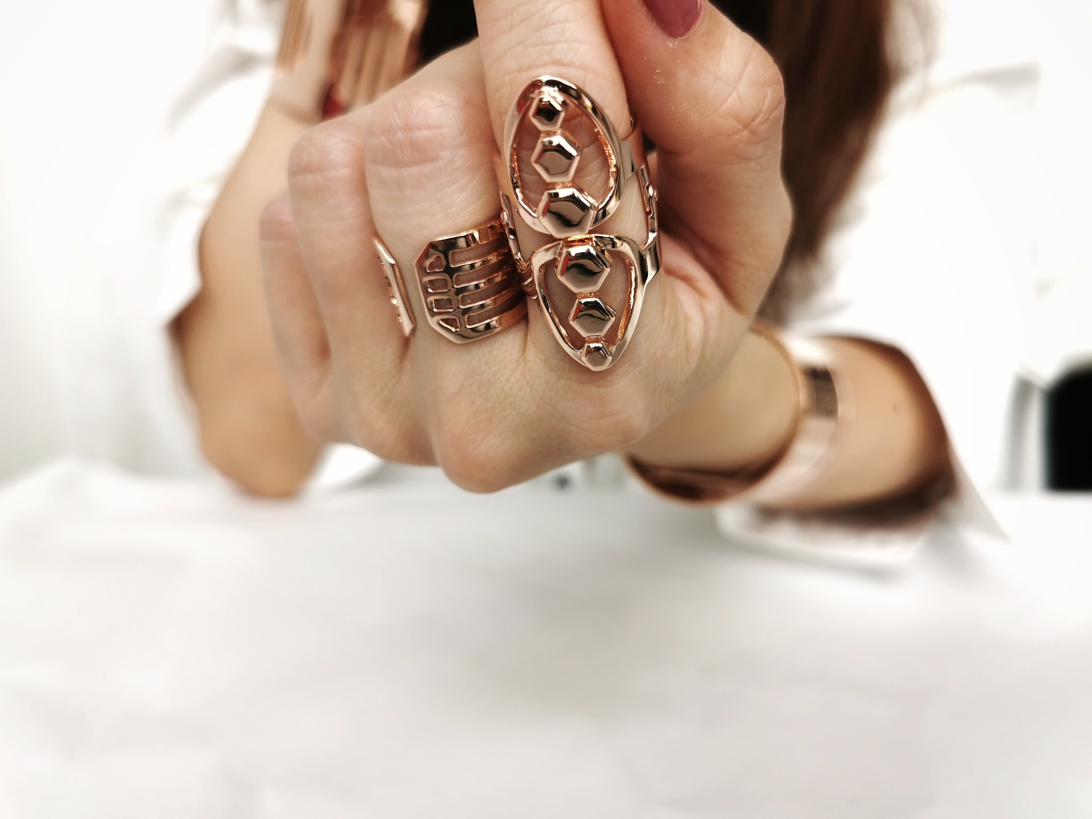 rosegold sustainable jewellery recycled rings