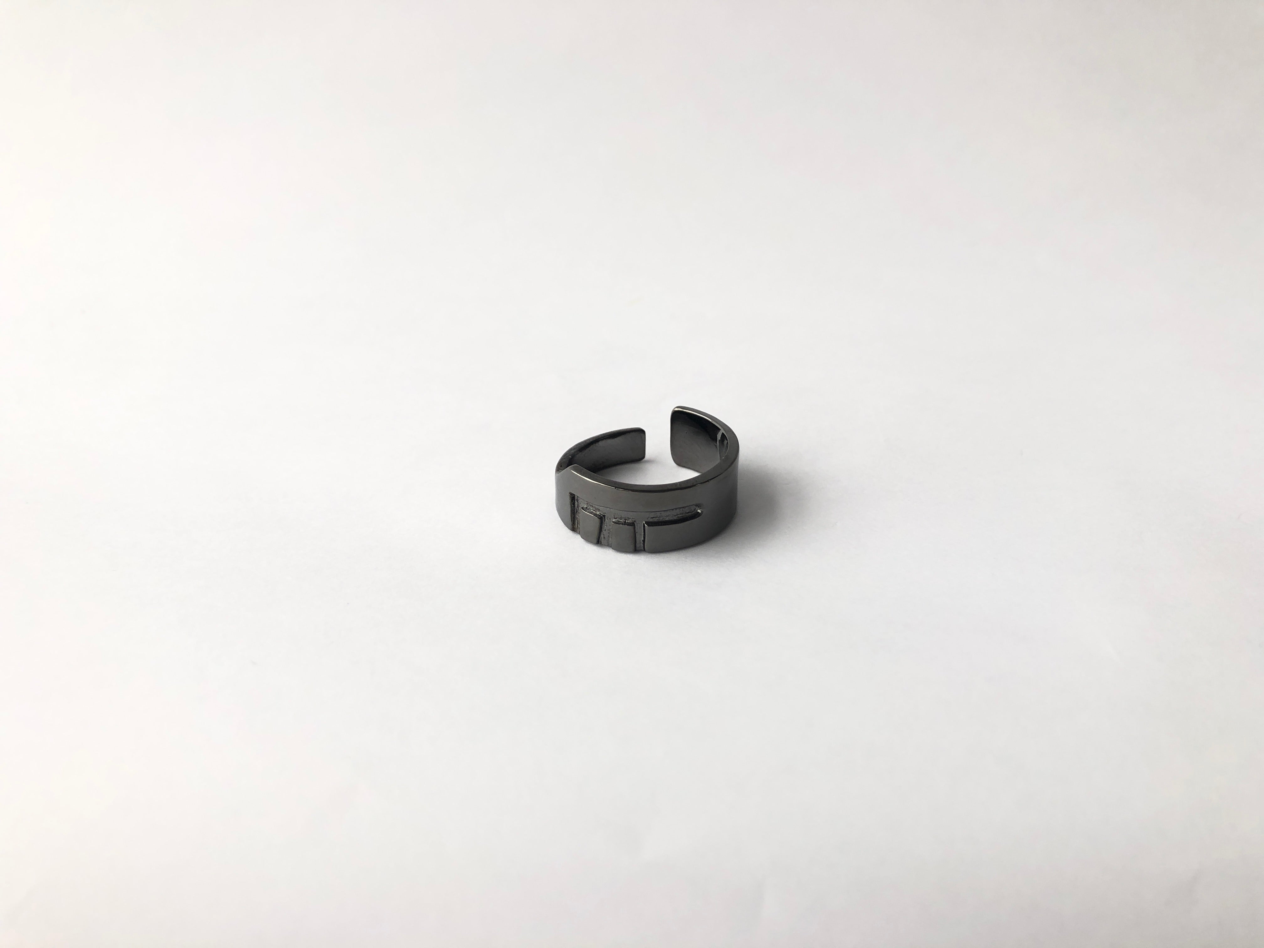 gunmetal classic sustainable ring jewelry recycled materials fair trade