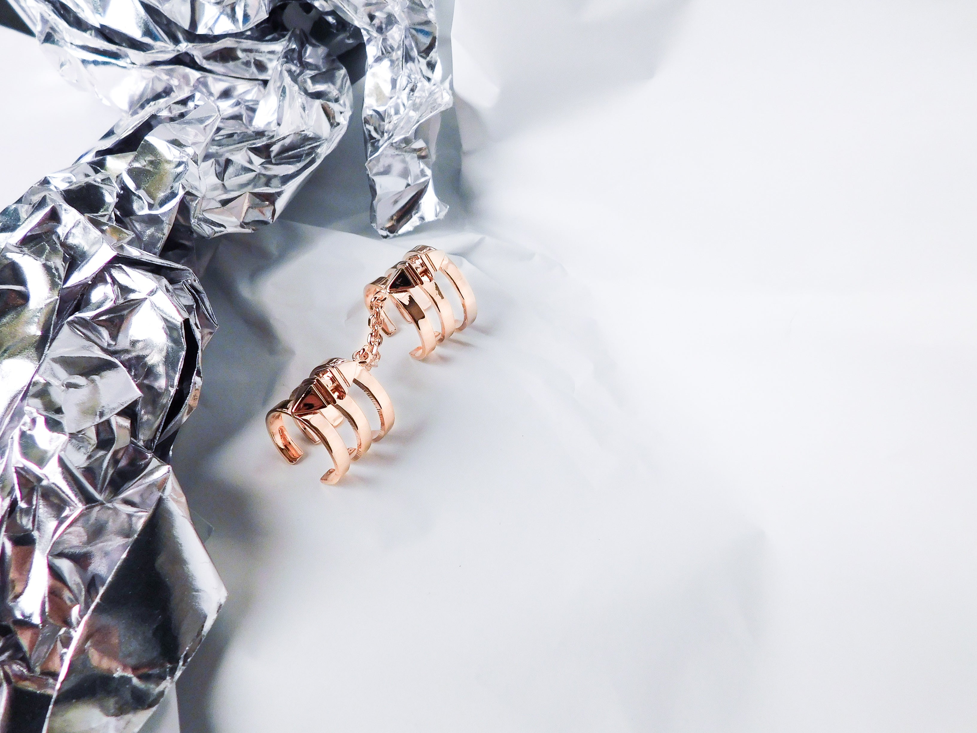 rosegold jewellery statement classic accessory rings