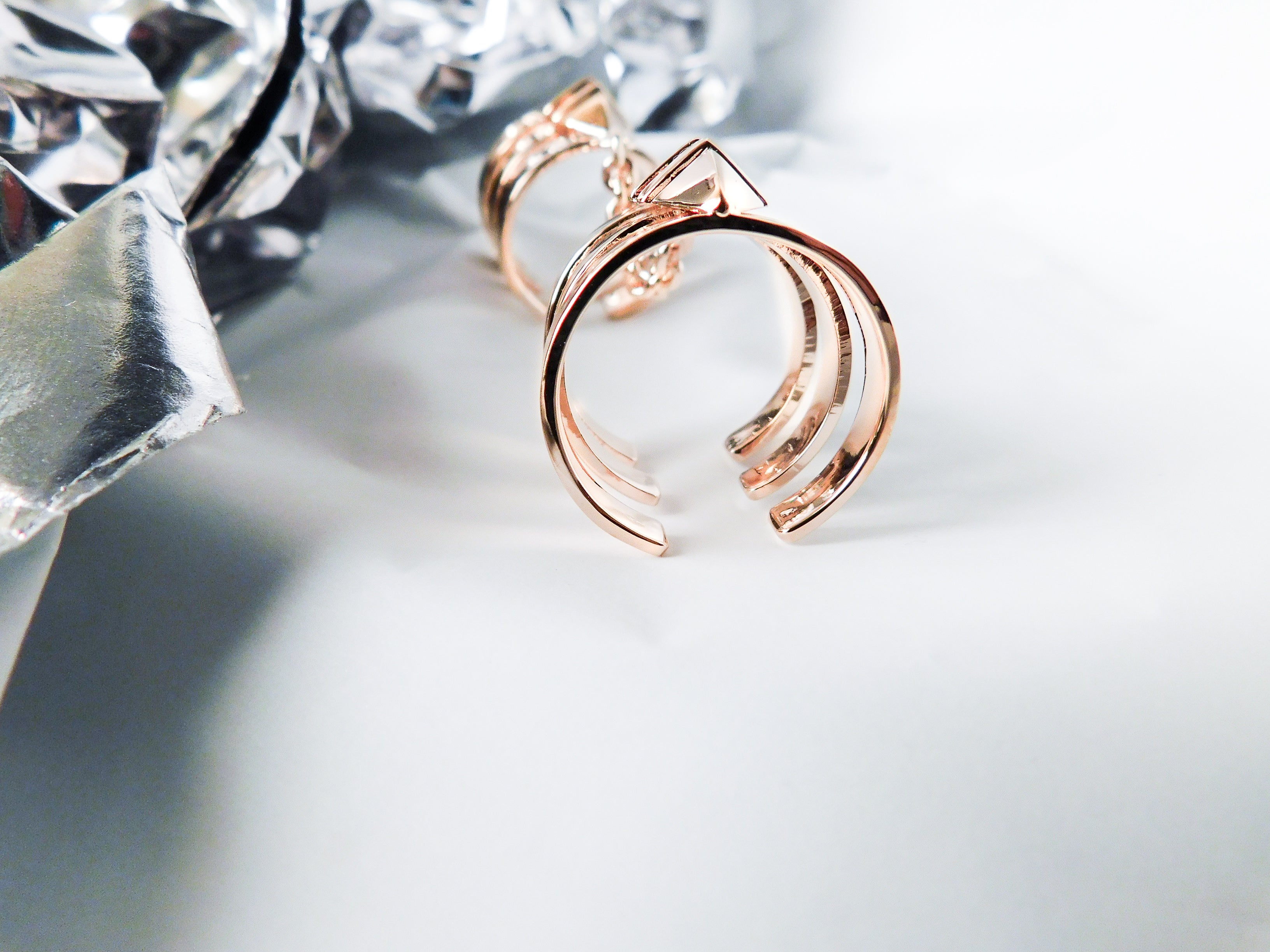 rosegold recycled jewellery statement classic accessory rings