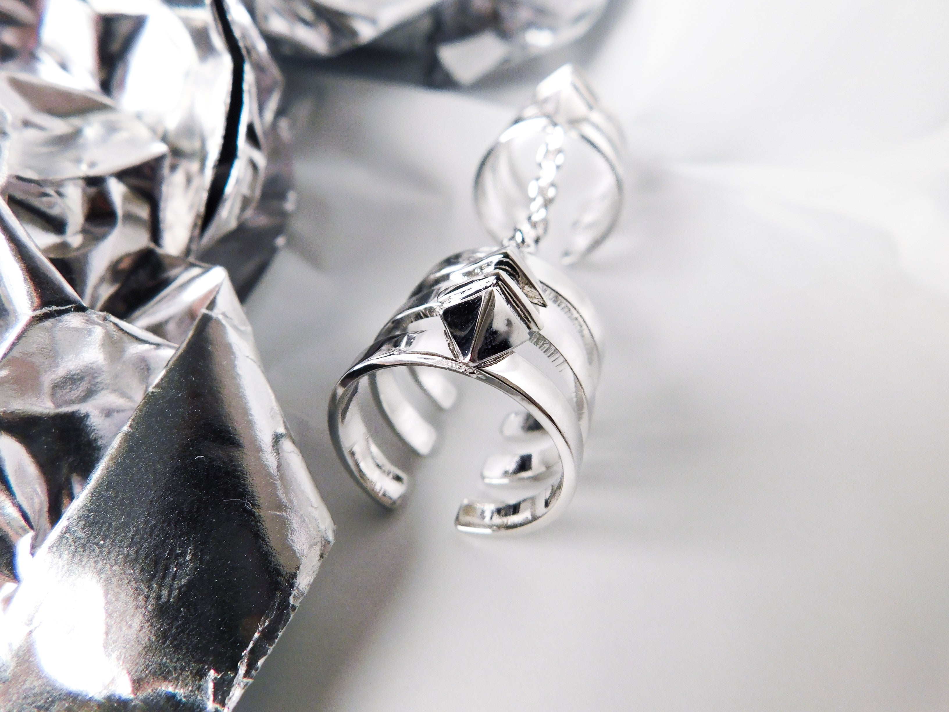Aleia Long Ring /\ Silver