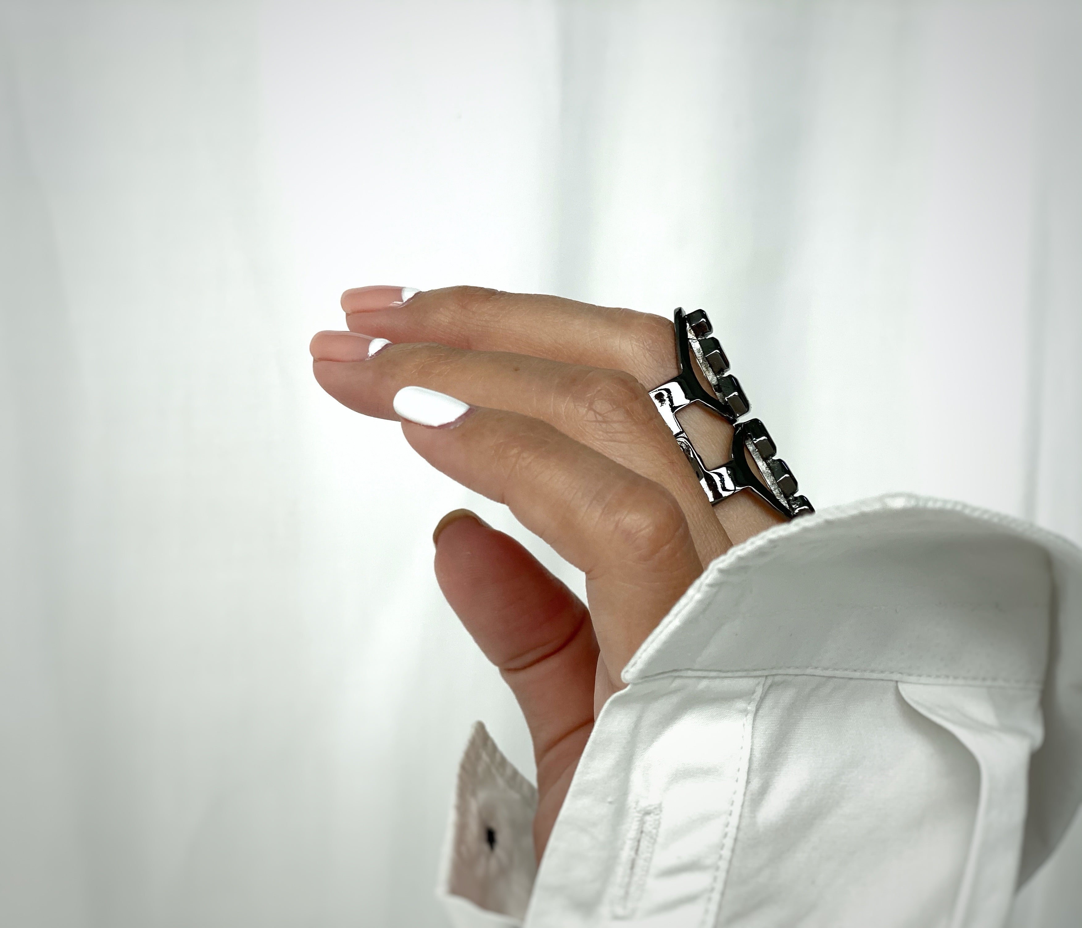 gunmetal classic sustainable ring jewelry recycled materials