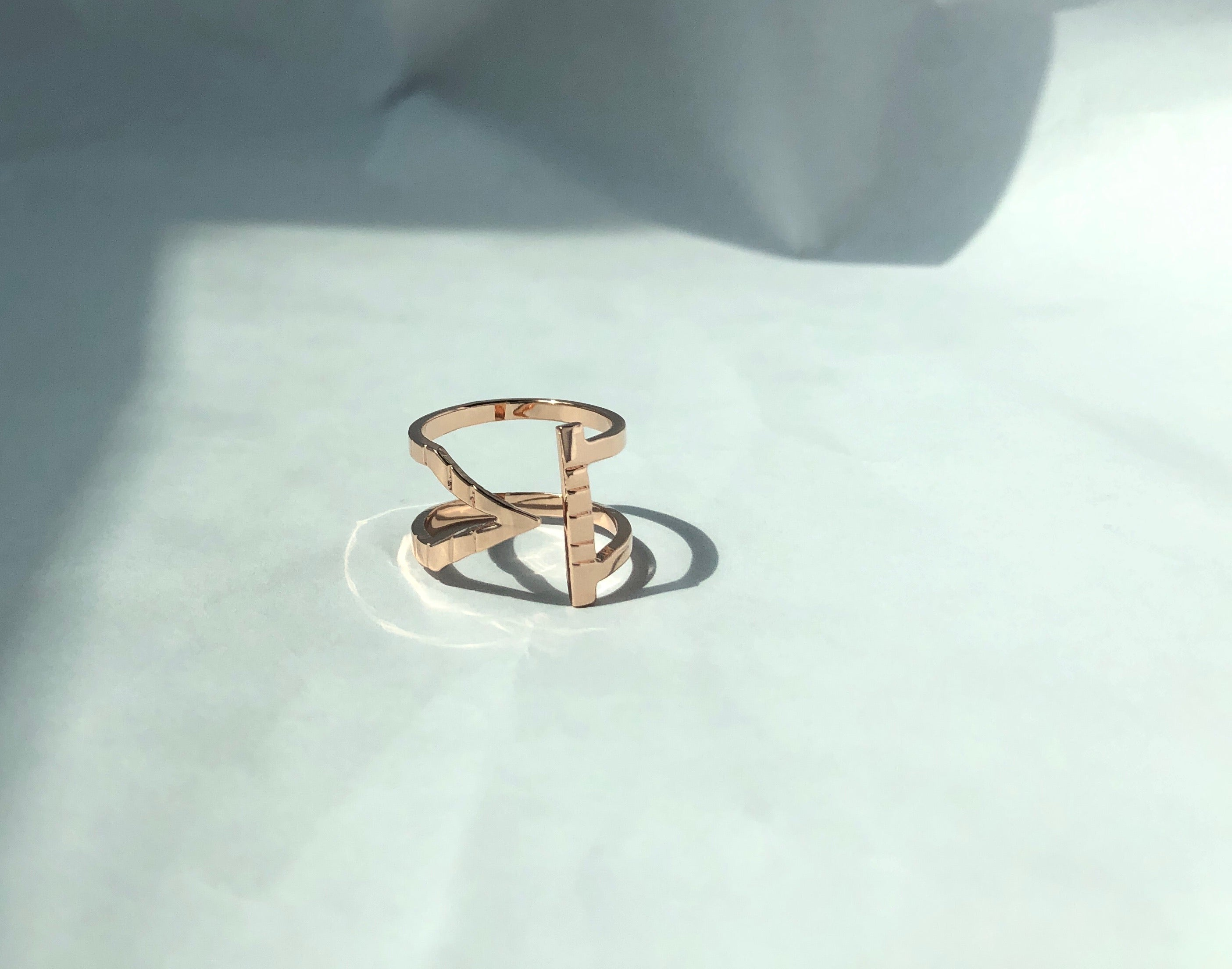 stylish ringstack rosegold sustainable jewellery recycled rings ethical accessories women