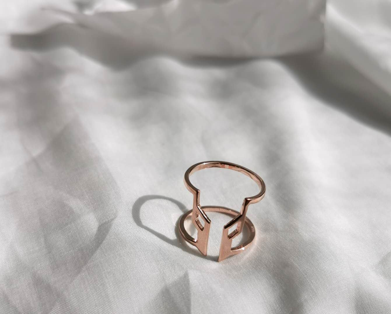 rosegold sustainable jewellery recycled rings cuffs bracelets ethical accessories women