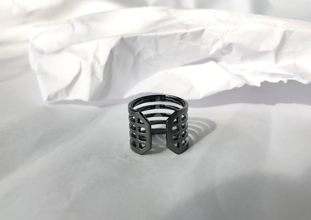 Justice Ring /\ Gunmetal