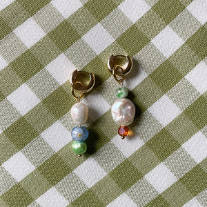 old finds charm earring set