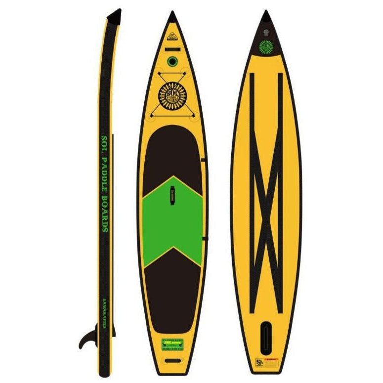 2020 SOL Sonic Carbon Galaxy Inflatable SUP Board-Big Winds