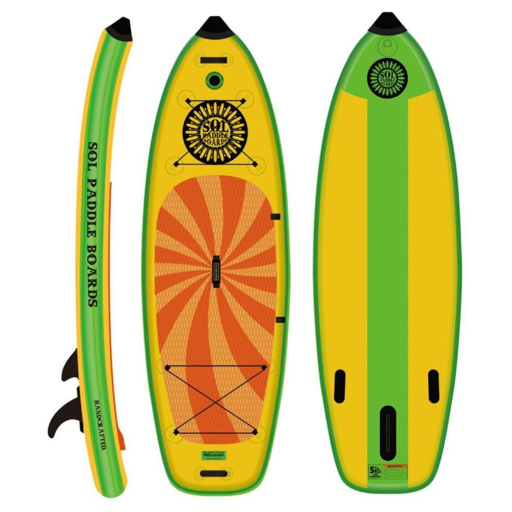 2020 SOL Stout Classic Inflatable SUP Board-Big Winds