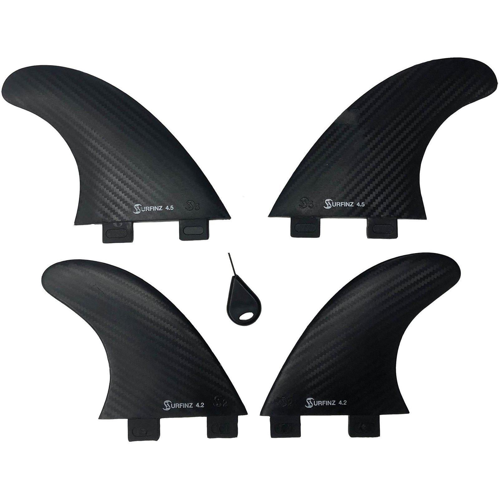 "Naish 4.5"" + 4.2"" Surfinz Quad Fin Set (4 pc)-Big Winds"