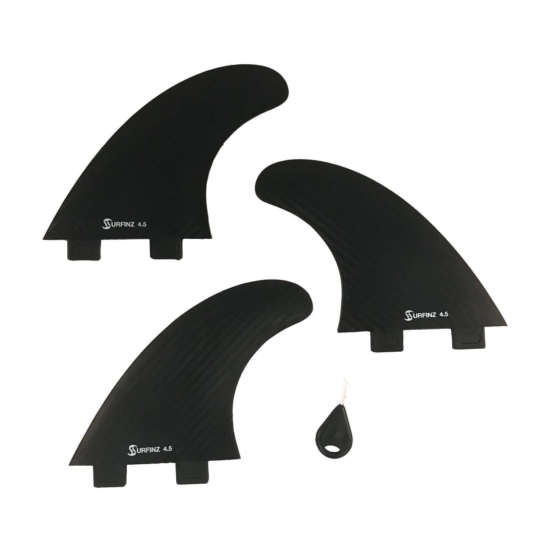 "Naish 4.5"" Surfinz Fin Set (3 pc)-Big Winds"