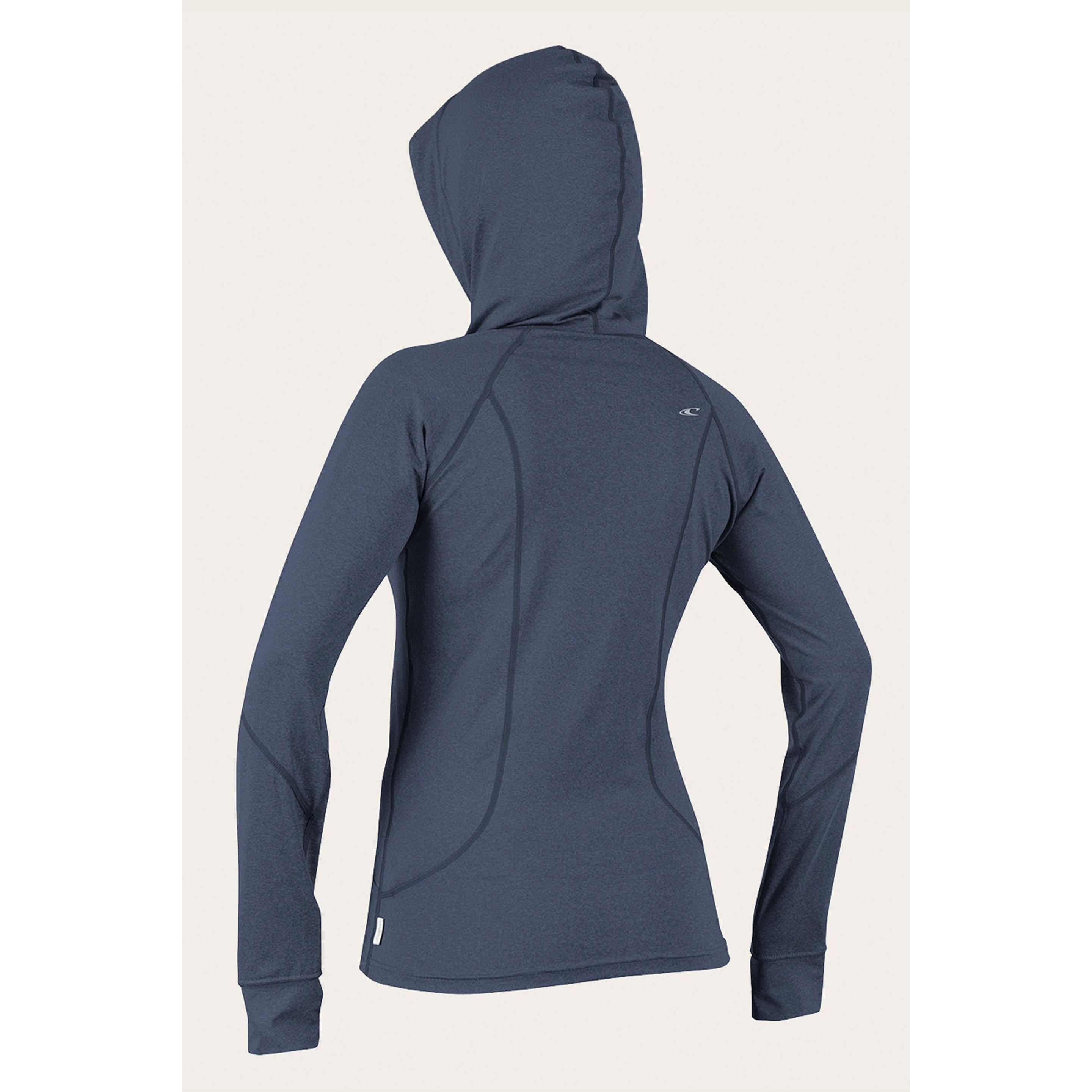 O'NEILL WOMEN'S HYBRID L/S FULL ZIP SUN HOODIE-Wetsuits-Big Winds
