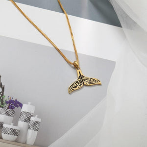 Whale Tail Necklace. - Ocean Autograph