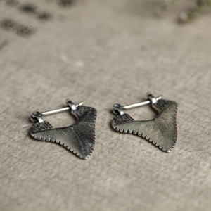 Shark Teeth Stud Earrings.