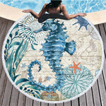 Ocean Themed Round Bath Towel. - Ocean Autograph