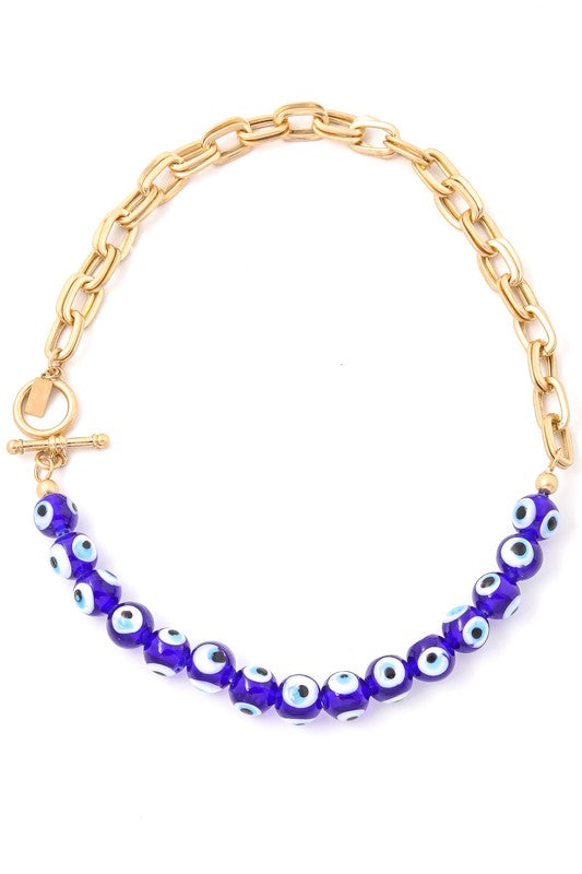 Evil Eye Gold Chain Necklace