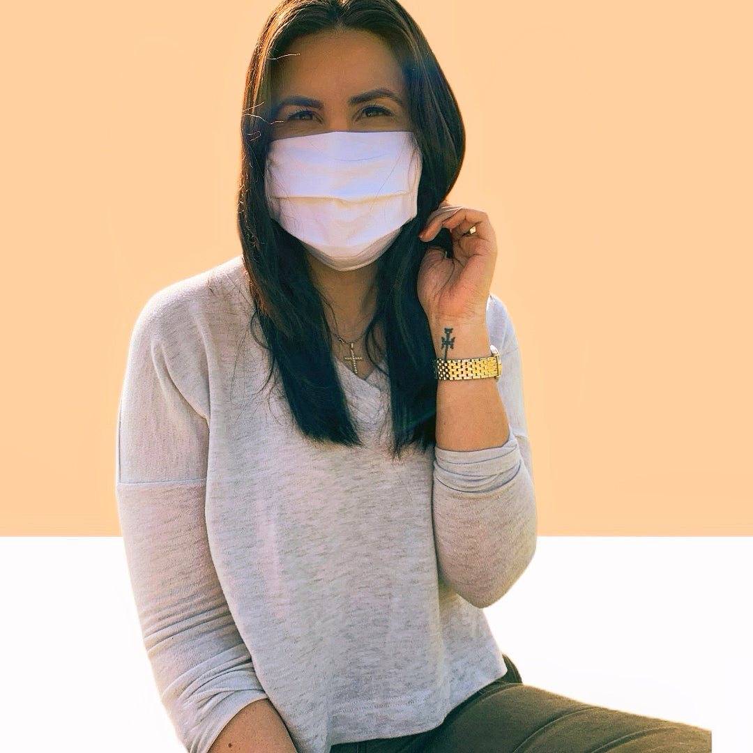 Solid Color Cotton Fabric Face Masks