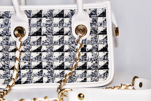 The Mini Trésor Tote | White