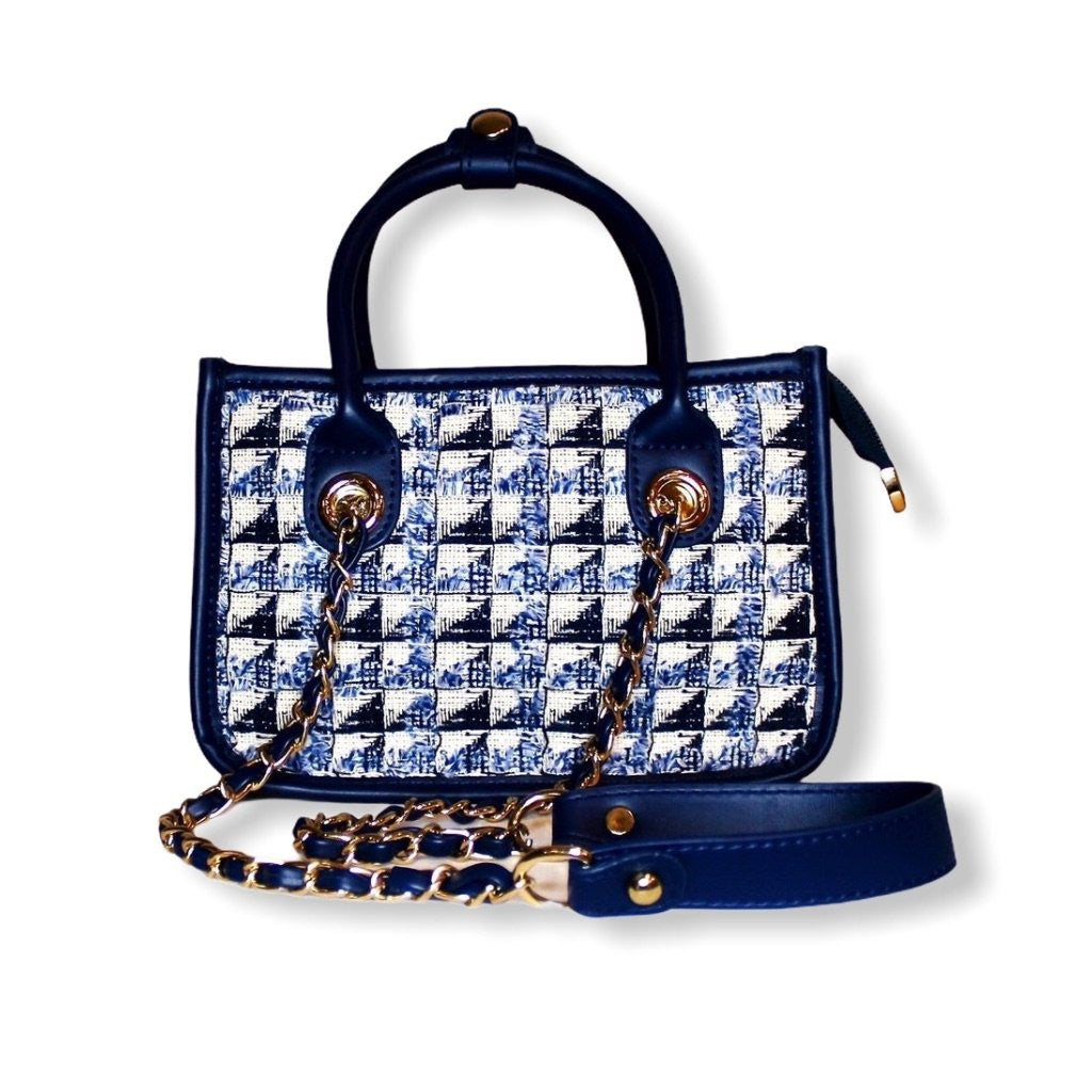 The Mini Trésor Tote | Blue
