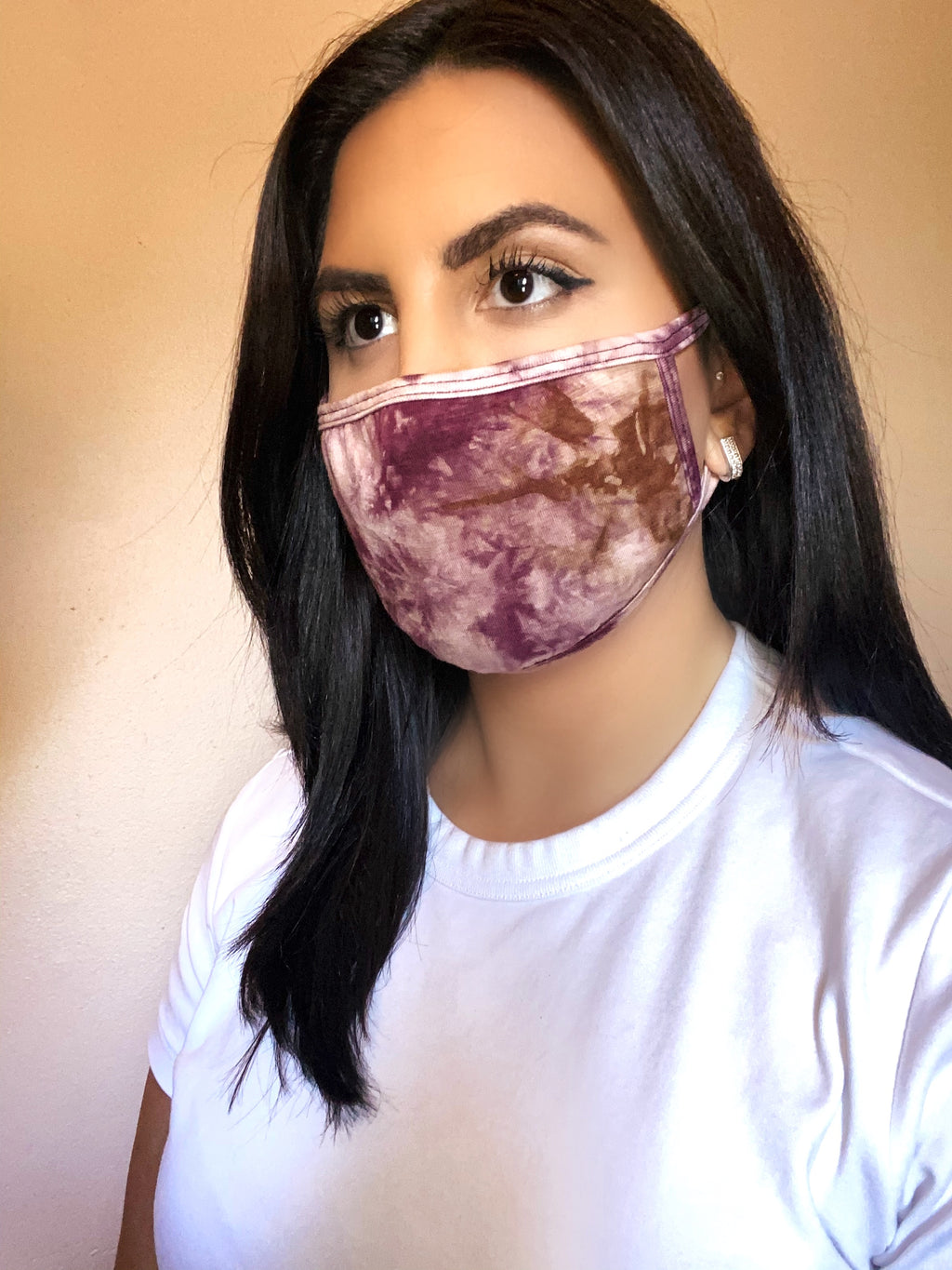 Wine Tie Dye Face Mask