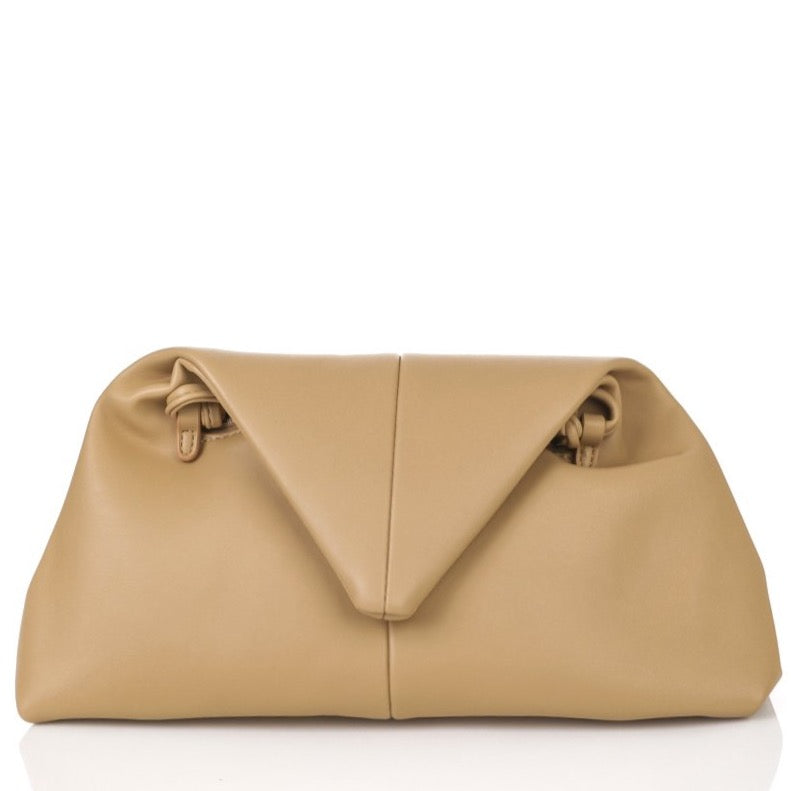 The Triangle Clutch | Khaki