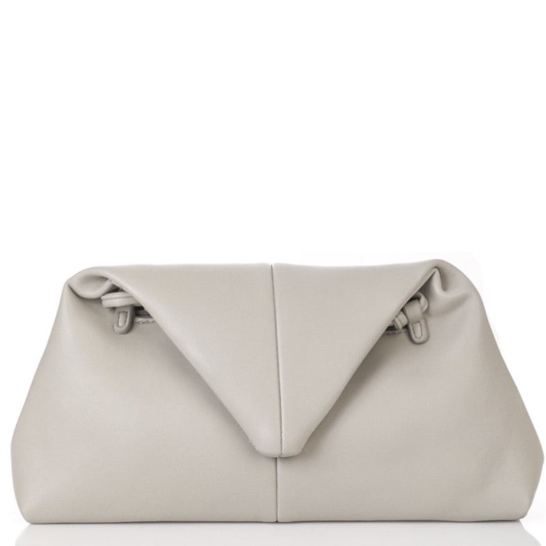 The Triangle Clutch | Light Gray