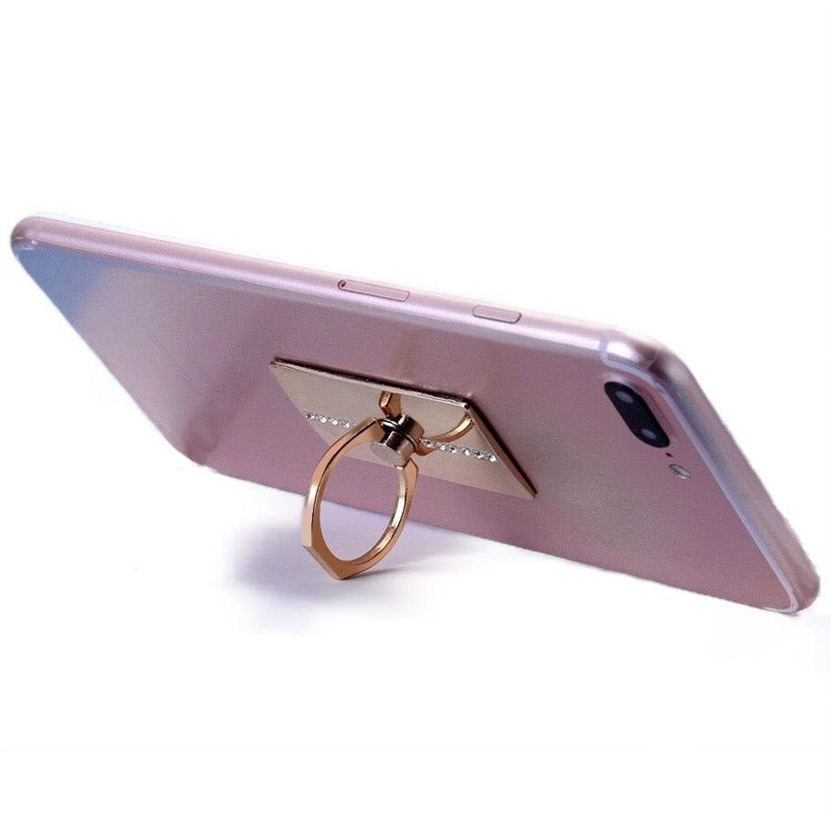 Diamond Rotating Phone Ring Holder