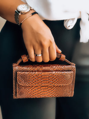 Amber Red Python Phone Wallet Crossbody