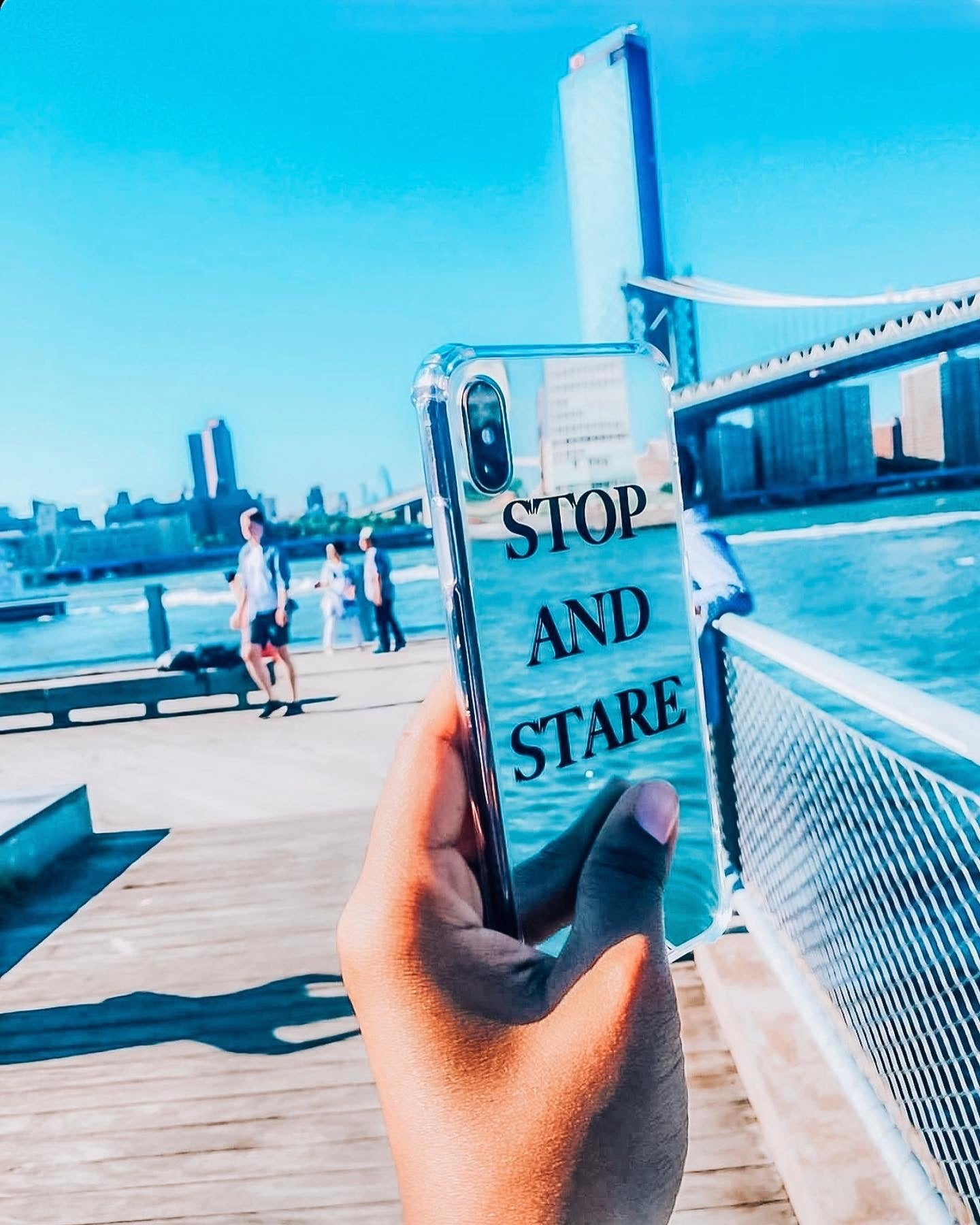 Stop and Stare (Mirrored) iPhone Case