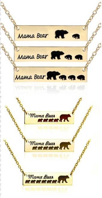 Mama Bear Necklace - Gold