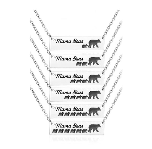 Mama Bear Necklace - Silver