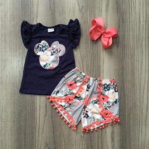 Minnie Coral Floral Outfit