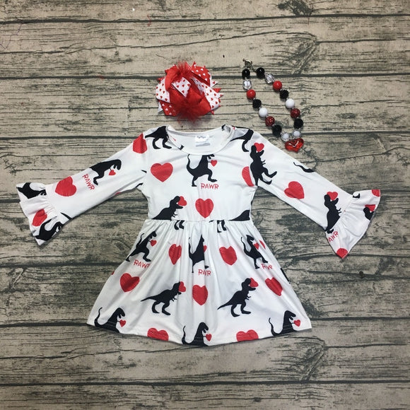 Valentine's Rawr Bell Sleeve Dress