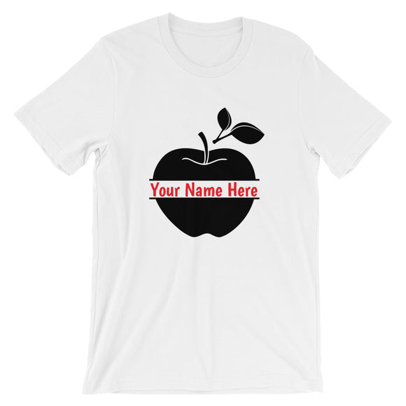 Personalized Apple Tee - MANY COLORS!