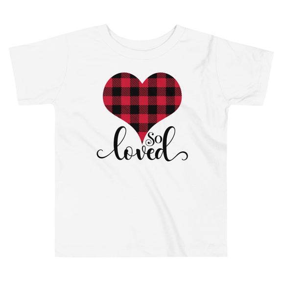So Loved Buffalo Plaid Toddler Tee