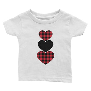 Buffalo Plaid Hearts Infant Tee