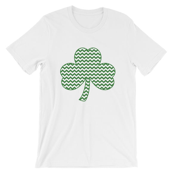 Chevron Shamrock Tee - MANY COLORS!