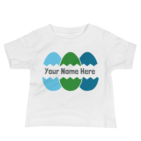 Personalized Cracked Egg Infant Tee - Blue - MANY COLORS!