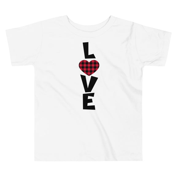 Love Buffalo Plaid Toddler Tee