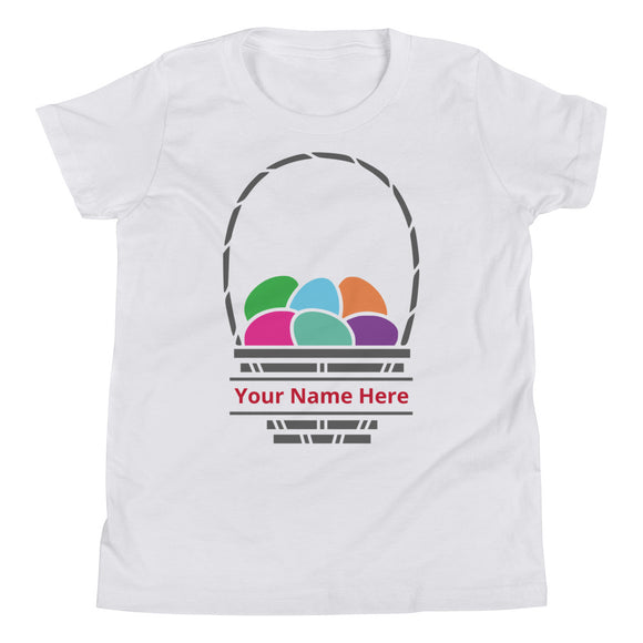 Personalized Easter Basket Youth Tee - MANY COLORS!