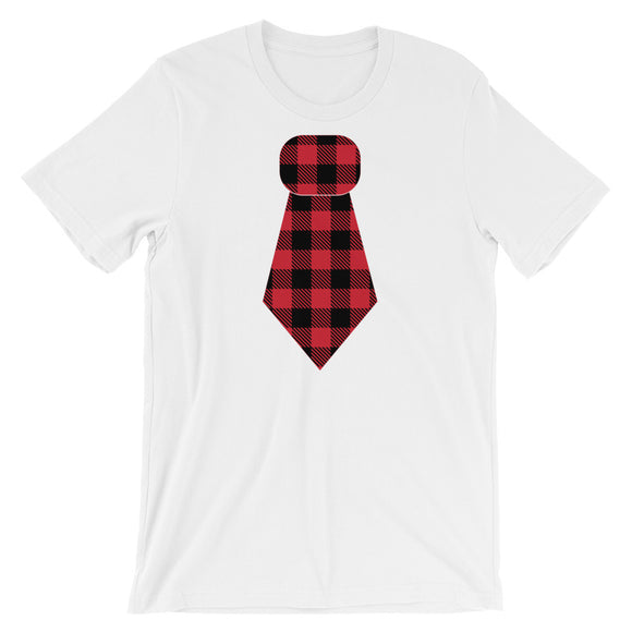 Buffalo Plaid Tie Tee - MANY COLORS!