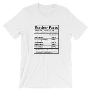"""Teacher Facts"" Tee - MANY COLORS!"