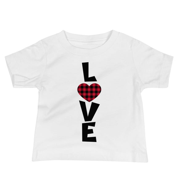Love Buffalo Plaid Infant Tee