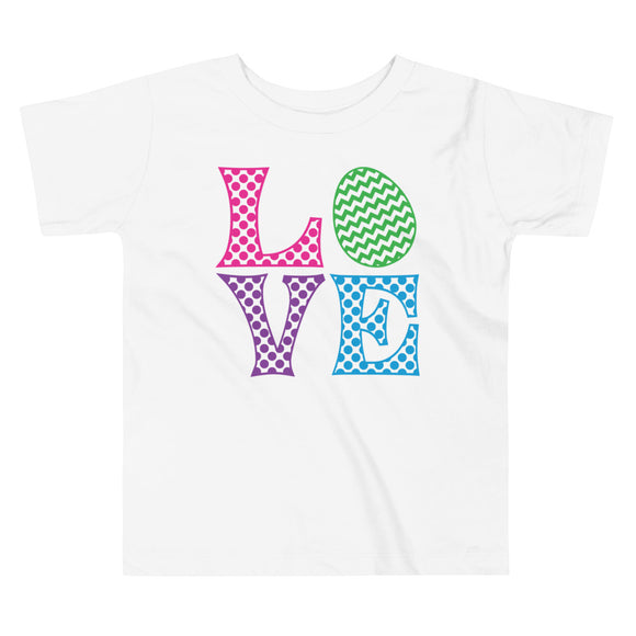 LOVE Chevron Egg Toddler Tee - MANY COLORS!