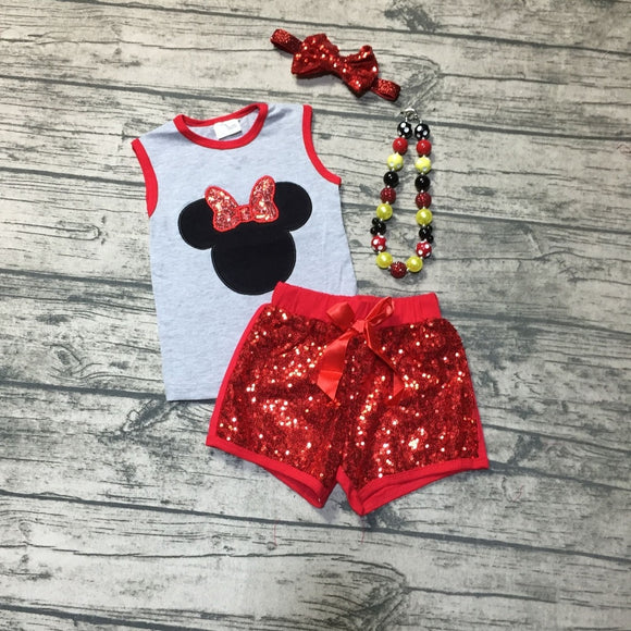 Minnie Sequin Short Outfit