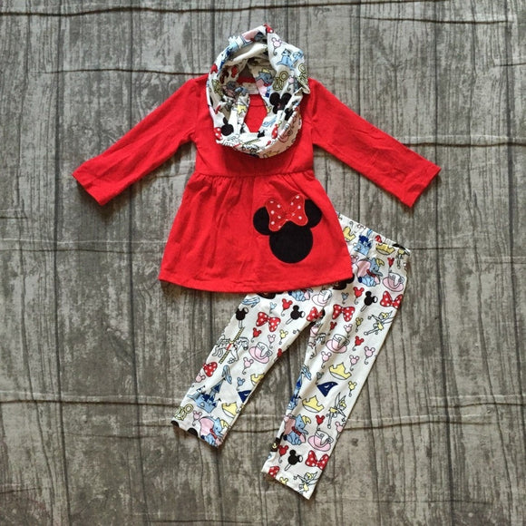 Minnie Cartoon 3pc Outfit
