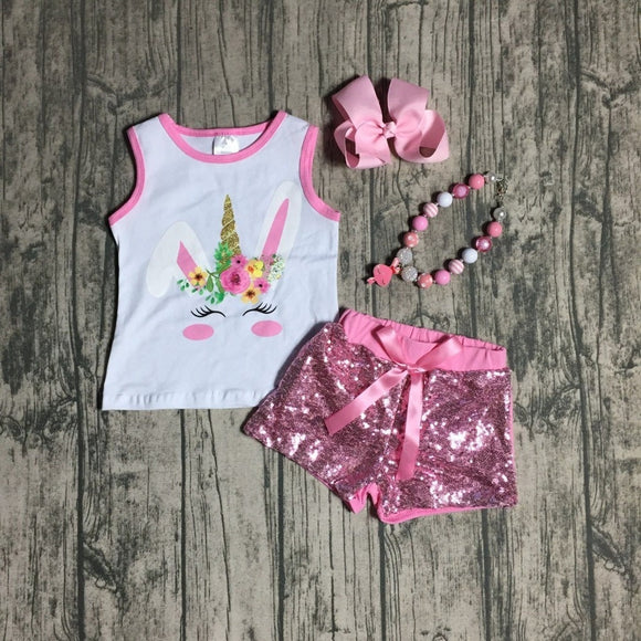 Unicorn Bunny Sequin Outfit