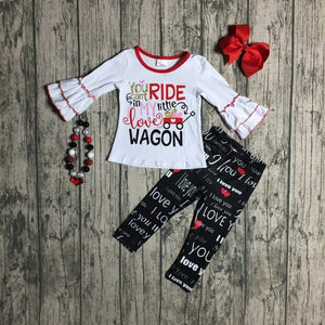 """You Can't Ride In My Little Love Wagon"" 2pc outfit"
